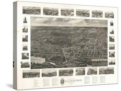 Wallingford, Connecticut - Panoramic Map-Lantern Press-Stretched Canvas Print