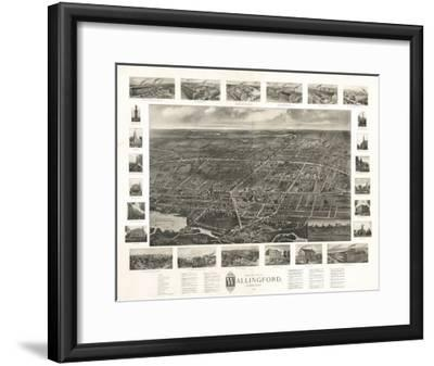 Wallingford, Connecticut - Panoramic Map-Lantern Press-Framed Art Print