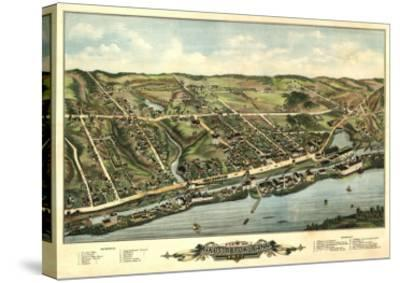 Windsor Locks, Connecticut - Panoramic Map-Lantern Press-Stretched Canvas Print