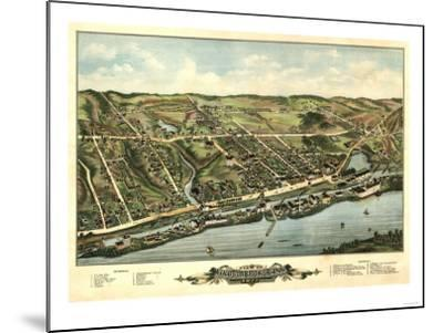 Windsor Locks, Connecticut - Panoramic Map-Lantern Press-Mounted Art Print
