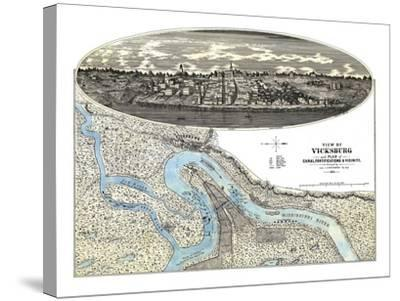 Vicksburg, Mississippi - Panoramic Map-Lantern Press-Stretched Canvas Print