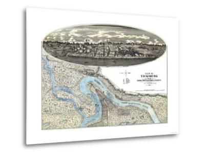 Vicksburg, Mississippi - Panoramic Map-Lantern Press-Metal Print