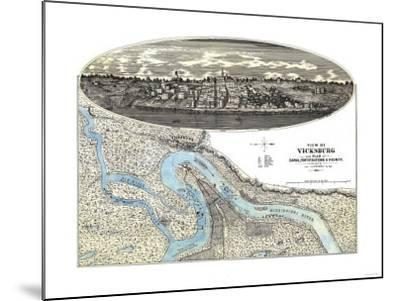 Vicksburg, Mississippi - Panoramic Map-Lantern Press-Mounted Art Print
