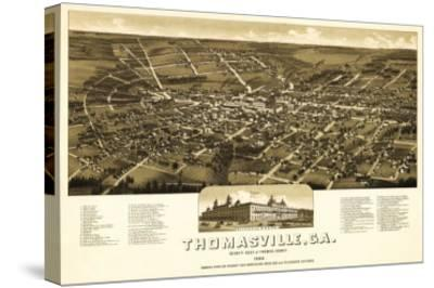 Thomasville, Georgia - Panoramic Map-Lantern Press-Stretched Canvas Print