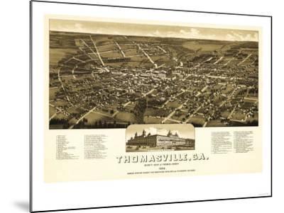 Thomasville, Georgia - Panoramic Map-Lantern Press-Mounted Art Print