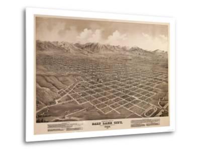 Salt Lake City, Utah - Panoramic Map-Lantern Press-Metal Print