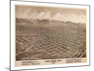 Salt Lake City, Utah - Panoramic Map-Lantern Press-Mounted Art Print