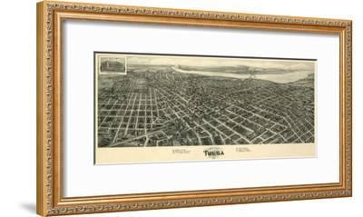 Tulsa, Oklahoma - Panoramic Map-Lantern Press-Framed Art Print