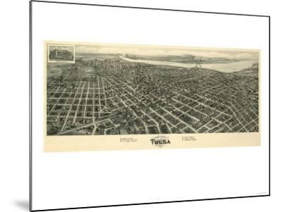 Tulsa, Oklahoma - Panoramic Map-Lantern Press-Mounted Art Print