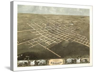 Sedalia, Missouri - Panoramic Map-Lantern Press-Stretched Canvas Print