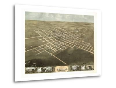 Sedalia, Missouri - Panoramic Map-Lantern Press-Metal Print