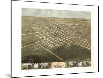 Sedalia, Missouri - Panoramic Map-Lantern Press-Mounted Art Print