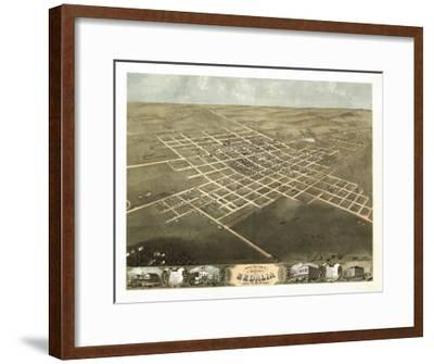 Sedalia, Missouri - Panoramic Map-Lantern Press-Framed Art Print