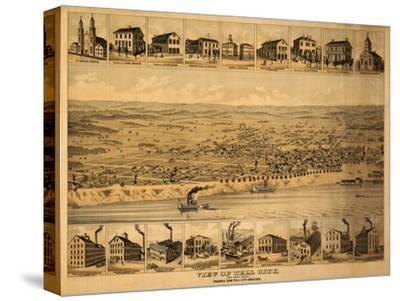 Tell City, Indiana - Panoramic Map-Lantern Press-Stretched Canvas Print