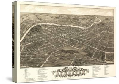 Youngstown, Ohio - Panoramic Map-Lantern Press-Stretched Canvas Print