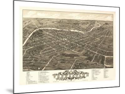 Youngstown, Ohio - Panoramic Map-Lantern Press-Mounted Art Print