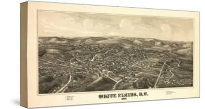 White Plains, New York - Panoramic Map-Lantern Press-Stretched Canvas Print