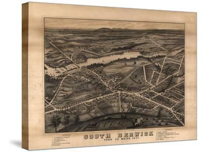 South Berwick, Maine - Panoramic Map-Lantern Press-Stretched Canvas Print