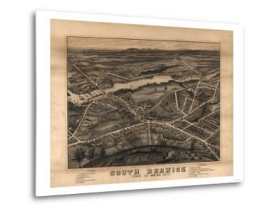 South Berwick, Maine - Panoramic Map-Lantern Press-Metal Print