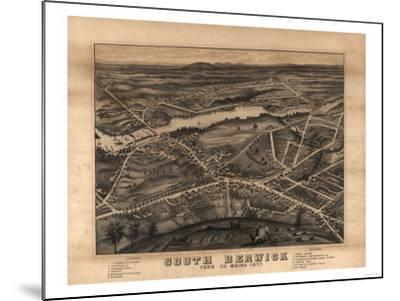 South Berwick, Maine - Panoramic Map-Lantern Press-Mounted Art Print
