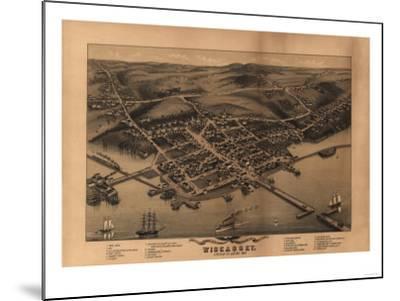 Wiscasset, Maine - Panoramic Map-Lantern Press-Mounted Art Print