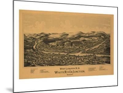 White River Junction, Vermont - Panoramic Map-Lantern Press-Mounted Art Print