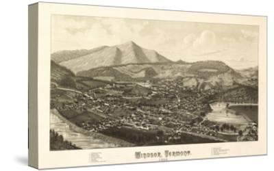 Windsor, Vermont - Panoramic Map-Lantern Press-Stretched Canvas Print