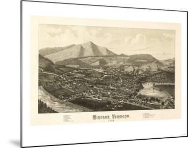 Windsor, Vermont - Panoramic Map-Lantern Press-Mounted Art Print