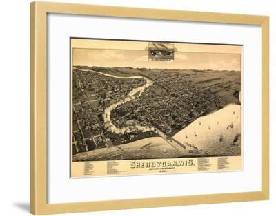 Sheboygan, Wisconsin - Panoramic Map-Lantern Press-Framed Art Print
