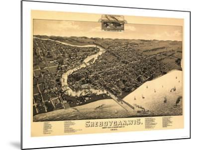 Sheboygan, Wisconsin - Panoramic Map-Lantern Press-Mounted Art Print