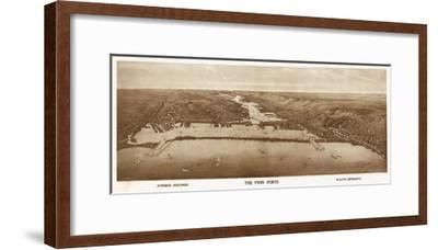Superior-Duluth, Wisconsin - Panoramic Map-Lantern Press-Framed Art Print