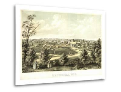 Waukesha, Wisconsin - Panoramic Map-Lantern Press-Metal Print