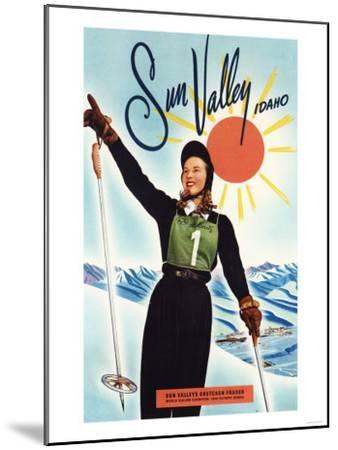 Sun Valley, Idaho - Gretchen Fraser Advertisement Poster-Lantern Press-Mounted Art Print