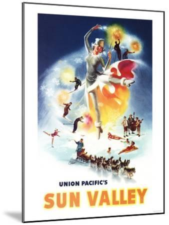 Sun Valley, Idaho - Sonja Henje Montage of Sun Valley Poster-Lantern Press-Mounted Art Print