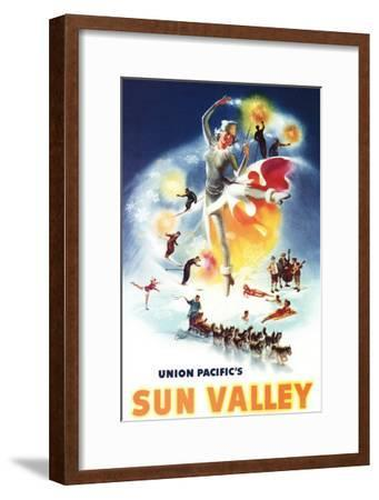 Sun Valley, Idaho - Sonja Henje Montage of Sun Valley Poster-Lantern Press-Framed Art Print
