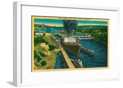 Government Locks, Ballard Locks, Seattle - Seattle, WA-Lantern Press-Framed Art Print