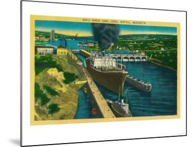 Government Locks, Ballard Locks, Seattle - Seattle, WA-Lantern Press-Mounted Art Print