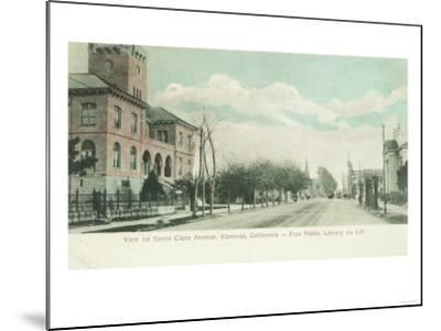Exterior View of Public Library on Santa Clara Ave - Alameda, CA-Lantern Press-Mounted Art Print
