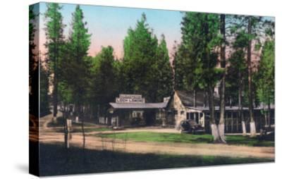 Exterior View of Loch Lomond Resort - Lake County, CA-Lantern Press-Stretched Canvas Print
