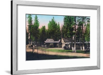 Exterior View of Loch Lomond Resort - Lake County, CA-Lantern Press-Framed Art Print