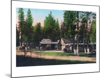Exterior View of Loch Lomond Resort - Lake County, CA-Lantern Press-Mounted Art Print