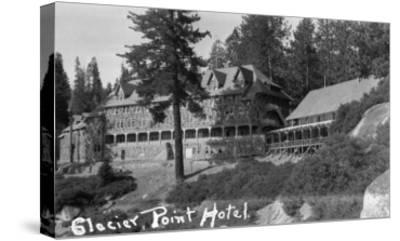 Exterior View of the Glacier Point Hotel - Yosemite National Park, CA-Lantern Press-Stretched Canvas Print