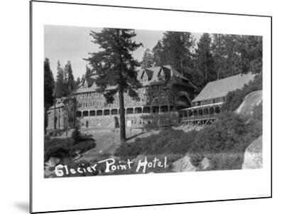 Exterior View of the Glacier Point Hotel - Yosemite National Park, CA-Lantern Press-Mounted Art Print