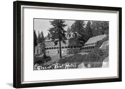 Exterior View of the Glacier Point Hotel - Yosemite National Park, CA-Lantern Press-Framed Art Print
