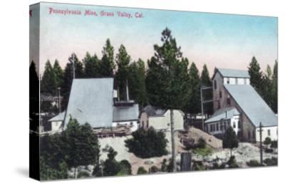 Exterior View of the Pennsylvania Mine - Grass Valley, CA-Lantern Press-Stretched Canvas Print