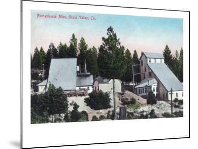 Exterior View of the Pennsylvania Mine - Grass Valley, CA-Lantern Press-Mounted Art Print