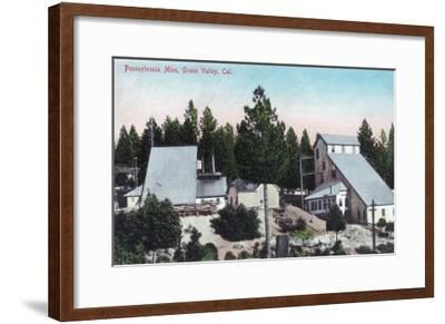 Exterior View of the Pennsylvania Mine - Grass Valley, CA-Lantern Press-Framed Art Print