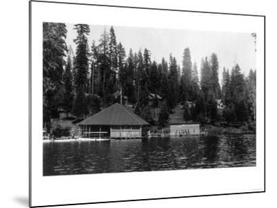 Lake View of Big Springs and Docks - Lake Almanor, CA-Lantern Press-Mounted Art Print