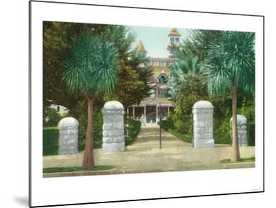 Exterior View of the Winchester Home - San Jose, CA-Lantern Press-Mounted Art Print