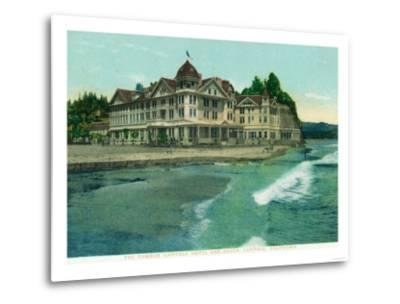 Exterior View of the Famous Capitola Hotel - Capitola, CA-Lantern Press-Metal Print